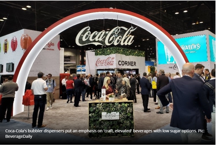 Shifting consumer taste is causing major beverage companies to adapt, make 'healthy' drinks taste better and be more accessible. Coca-Cola is using its Freestyle machines and new bubbler dispensers to highlight its 'craft, elevated' drinks in the marke…